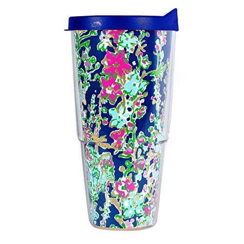 Lilly Pulitzer Tumbler - Lilly Pulitzer 24 oz Insulated Thermal Tumbler with Lid, Southern Charm