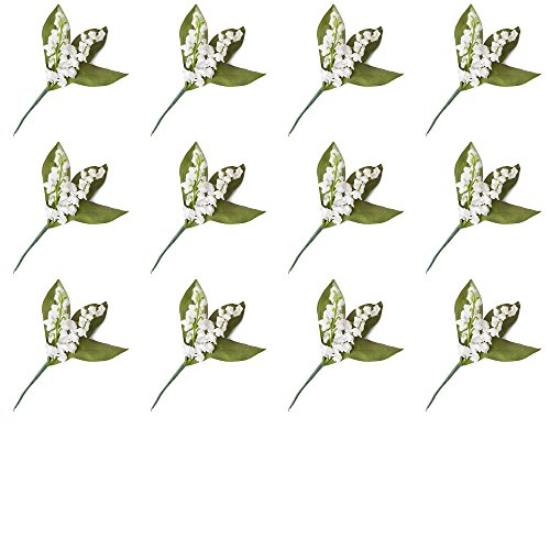 The Bouquet Lily Of Valley (Factory Direct Craft Artificial Lily of The Valley Picks for Arranging and Decorating - 12 Picks)
