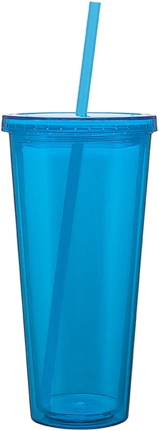 Eco To Go Cold Drink Tumbler - Double Wall -20oz. Capacity - Aqua