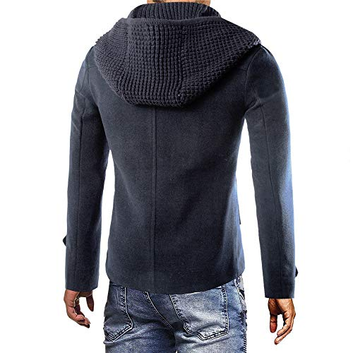 Tranchée D'hiver Hommes Dark Mode Manteau De Veste Des Chauds Shennanji Gray 48Aqw0XF