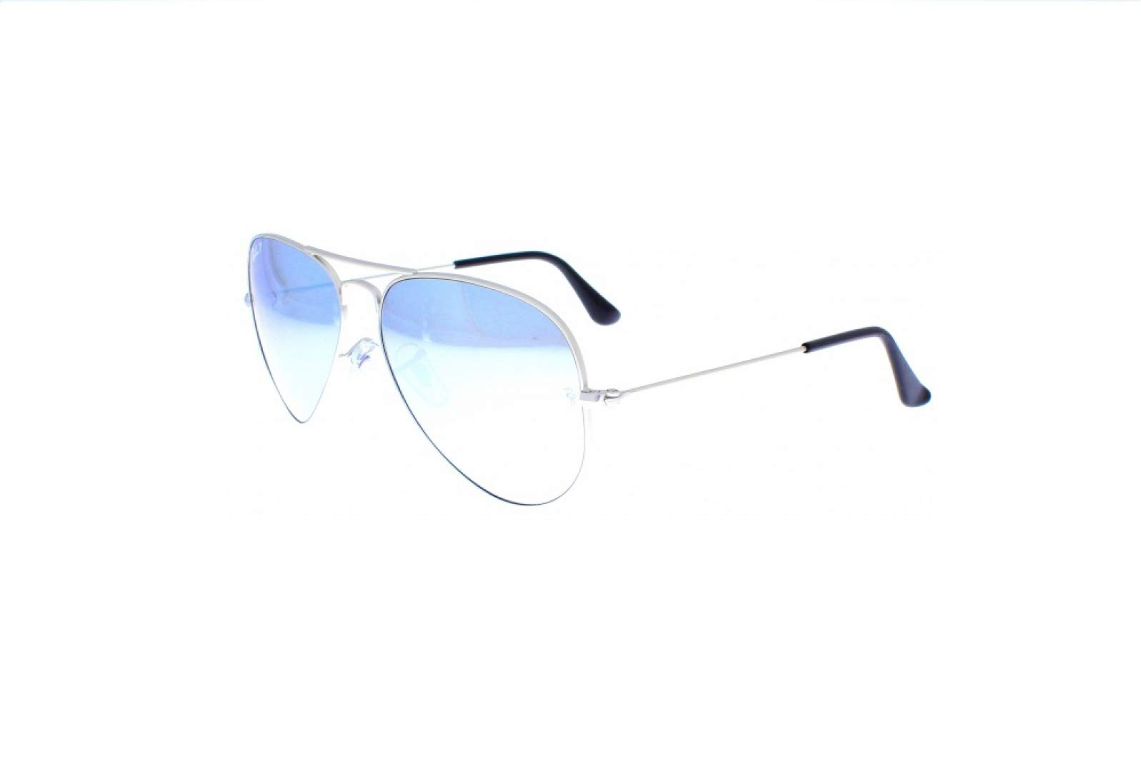 Ray-Ban Original Aviator Sunglasses (RB3025) Silver Matte/Silver Metal - Polarized - 58mm