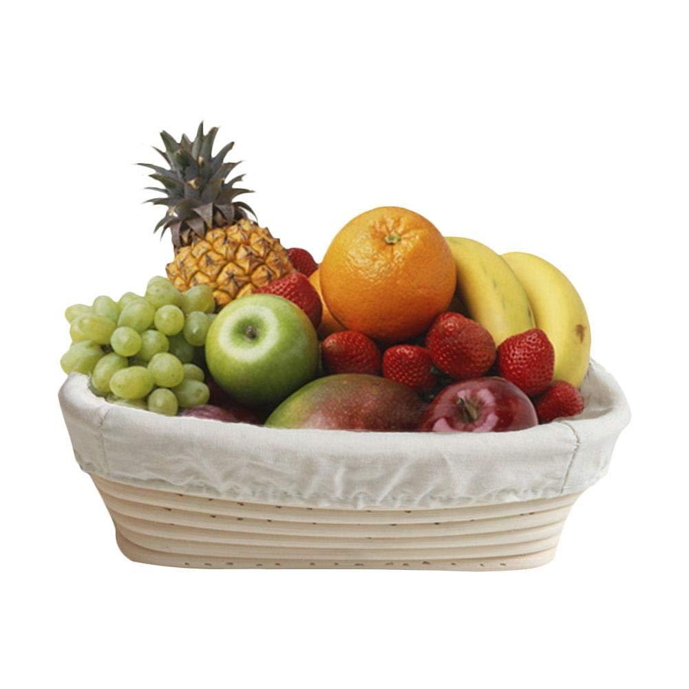 Cestino del Pane Cestino di Immagazzinaggio della Frutta Cestino in Rattan Accessori di Fabbricazione del Pane Quiet.T Cestini da Lievitazione del Triangolo