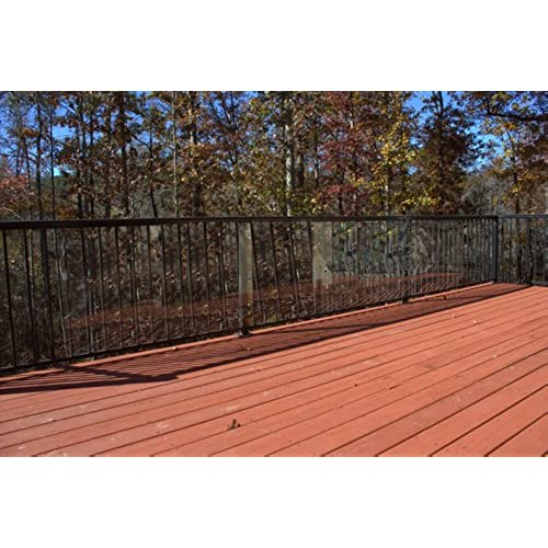 Cardinal Gates Outdoor Deck Shield For Pets, 15 Feet, Clear