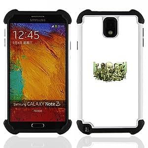 """SAMSUNG Galaxy Note 3 III / N9000 / N9005 - 3 en 1 impreso colorido de Altas Prestaciones PC Funda chaqueta Negro cubierta gel silicona suave (Meth Equipo"""")"""