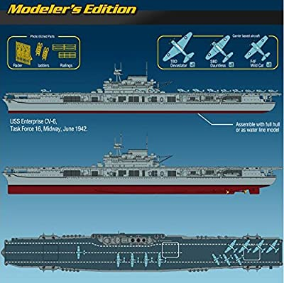 ACADEMY 1/700 US Aircraft Carrier Enterprise CV-6 Plastic Model Kit 14224