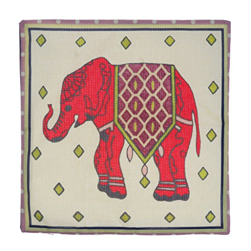 Pink Elephant Cotton Throw Pillow Case Cushion Cover Sofa Home Bed Decor by OOOUSE