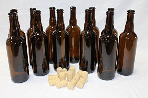 Home Brew Ohio Belgian Beer Bottles (750 mL) with 30 Beer Corks