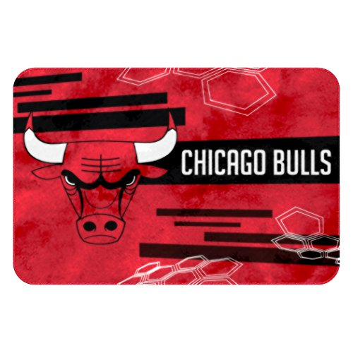 Officially Licensed NBA Chicago Bulls Raschel Rug with Non-Skid Backing, 20