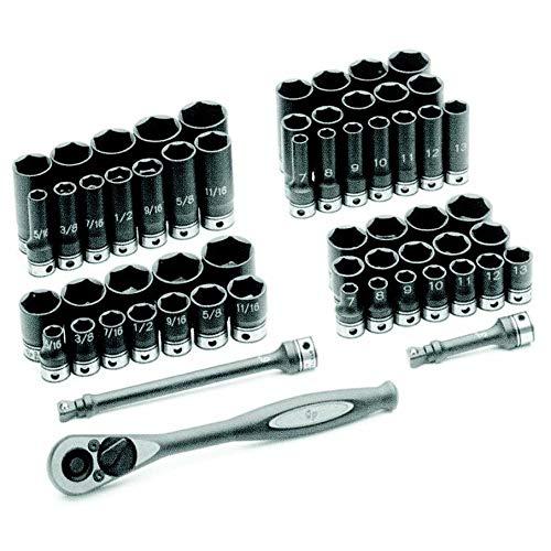 "Grey Pneumatic 81659CRD 3/8"" Drive 59pc Standard/Deep Length Fractional and Metric Duo-Socket Set - 6 P from Grey Pneumatic"