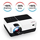 "Video Projector, GEARGO 2800 Lumens HD Portable Projector with 185"" and 1080P Support, Compatible with Amazon Fire TV Stick/Laptop/SD/XBOX/iPad iPhone Android for Home Theater"