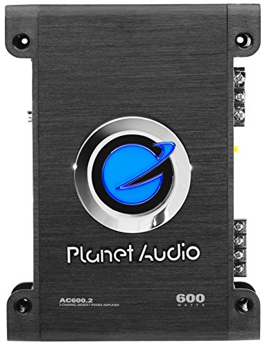 """Planet Audio AC600.2 2 Channel Car Amplifier - 600 Watts, Full Range, Class A/B, 2-4 Ohm Stable, Mosfet Power Supply, Bridgeable"""