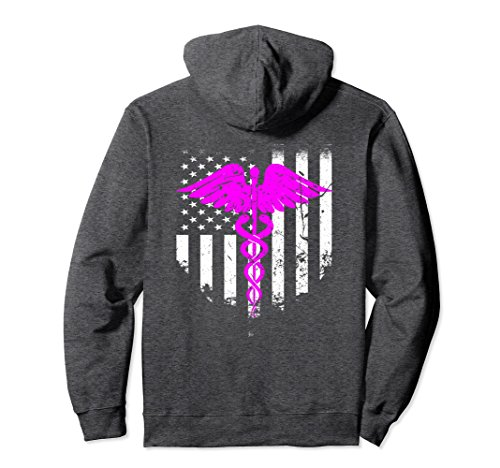 Student Nurse Sweatshirt - Unisex American Flag Nurse Cool Hoodie Best Gift For Nurses Large Dark Heather