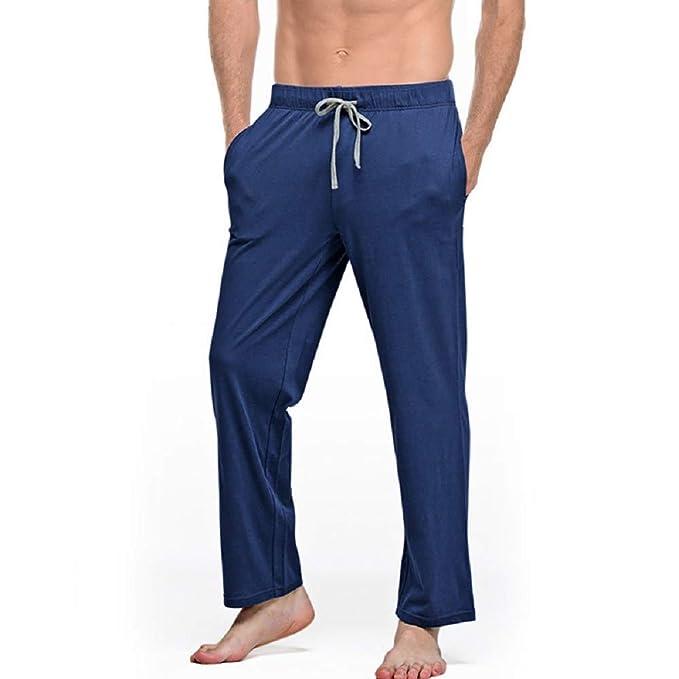Mmllse Pijamas Casuales De Los Hombres De Casa Pantalones Cómodos Pantalones De Hombre De Algodón Primavera