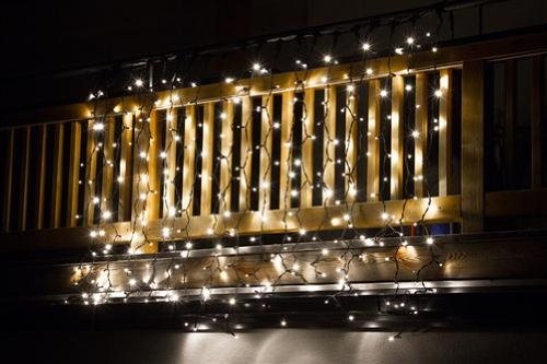 Tenda luminosa prolungabile 1200 led flash 2 x 6 colore bianco caldo