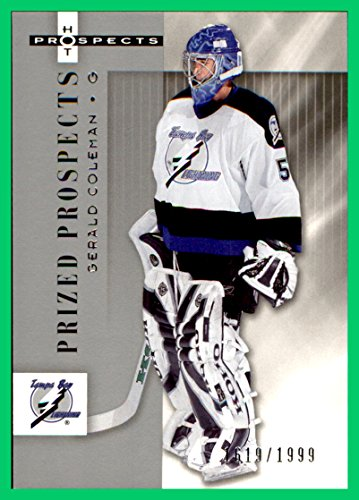 2005-06 Hot Prospects #170 Gerald Coleman RC SERIAL #1619/1999 TAMPA BAY LIGHTNING - Coleman Tampa Bay
