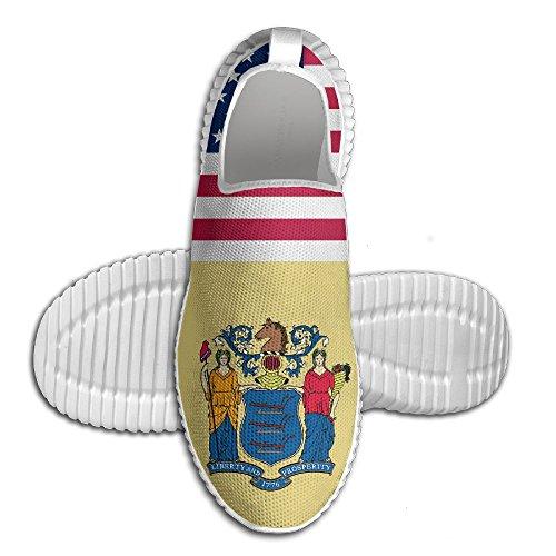 Oeuf Oeuf Usa Nouveau Jersey Drapeau Femmes Mocassins Mens Chaussures De Course Respirant Maille En Plein Air Sport Chaussures De Marche Blanc