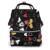 Diaper Bag Backpack - Mickey Mouse Black Multifunction Waterproof Travel Backpack Maternity Baby Nappy Changing Bags