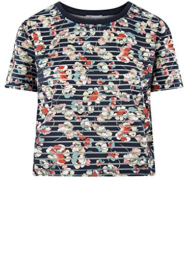 T Blu A Righe shirt Donna Corta 7945f Ultra Oodji wxCHqfzWUn
