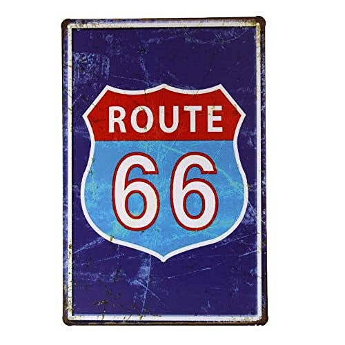 ルート66ホーム 金属板ブリキ看板警告サイン注意サイン表示パネル情報サイン金属安全サイン