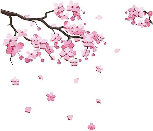 BLLXMX Rosa Extraíble Melocotón Ciruelo Flor de cerezo Flor ...
