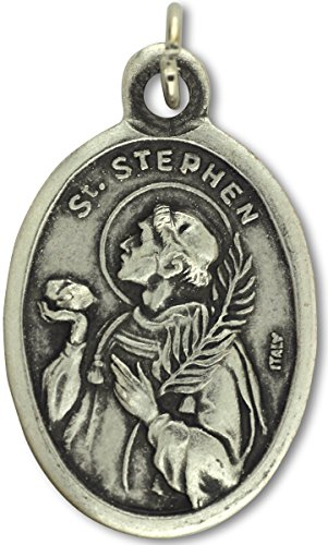 Lot of 10 St. Stephen Patron Saint Medal 1 inch