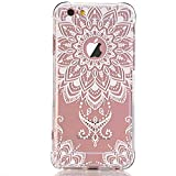 clear back bumper iphone 5s - iPhone 5 case, iPhone 5s Se Case, LUOLNH White Henna Mandala Transparent Clear Design TPU Bumper Protective Shockproof Back Case Cover for iPhone 5 5s Se -A