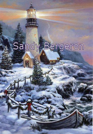 Bergeron Christmas Cards.Amazon Com Sandy Bergeron Lighthouse Christmas Cove