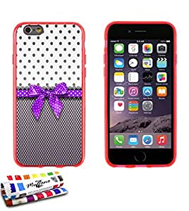 Carcasa Flexible Ultra-Slim APPLE IPHONE 6 / 6S de exclusivo motivo [Pin up purpura] [Roja] de MUZZANO  + ESTILETE y PAÑO MUZZANO REGALADOS - La Protección Antigolpes ULTIMA, ELEGANTE Y DURADERA para su APPLE IPHONE 6 / 6S