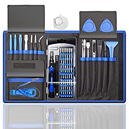 80 IN 1 Professional Computer Repair Tool Kit, Precision Laptop Screwdriver Set, with 56 Bit, Anti-Static Wrist and 24…