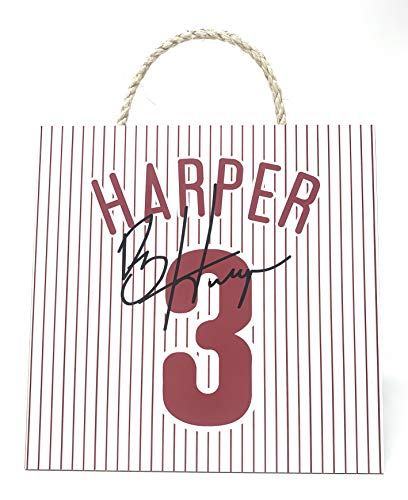 Prints Charming Bryce Harper Philadelphia Phillies Harper Jersey Baseball Wood Wall Plaque (12