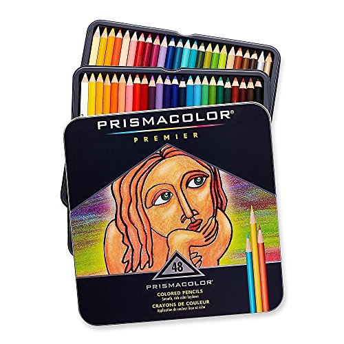 Prismacolor Soft thick cores perfect shading and shadows Premier Colored Pencils Soft Core 48 Pack Set of 48