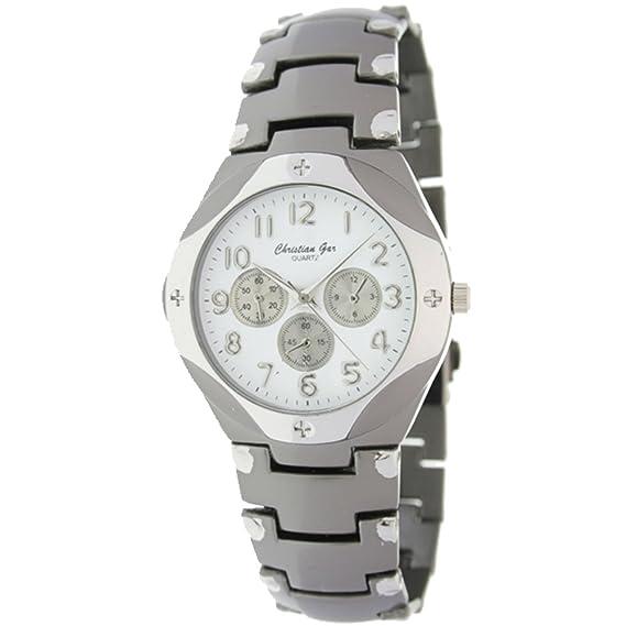 Reloj analógico de caballero cadena números - Christian Gar -Mod.CTB-001: Amazon.es: Relojes