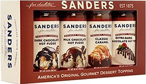 Caramel Ice Cream Topping - Sanders Sundae Best Gift Box, 4 Flavor Assortment, 40-Ounce Net Wt.