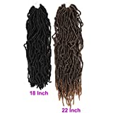 22 Inch Nu Locs Crochet Braids Hair 6 Packs/Lot