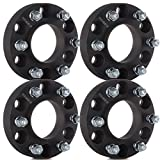 Wheel Spacers,ECCPP Wheel Spacer Adapters 4X 1.25'' 6X135mm 87mm Black Full Hub Centric for Ford F-150 Raptor Expedition