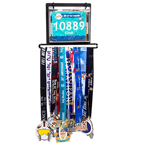 Race Bib Marathon Medal Display product image