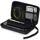 nintendo 2ds console holder - Fosmon Nintendo 3DS XL Carrying Case, EVA Travel Protective Shell [Large Pocket Storage | Game Card Holder] Hard Cover Portable Case with Strap for Nintendo 2DS XL, 3DS XL & Accessories