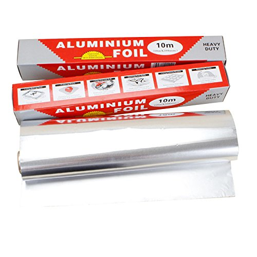 Yunhigh Thick Kitchen Aluminium Foil Paper Heavy Duty Foil Sheet - 10M
