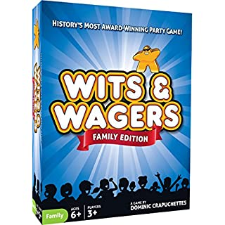 North Star Games Wits & Wagers Board Game | Family Edition, Kid Friendly Party Game and Trivia