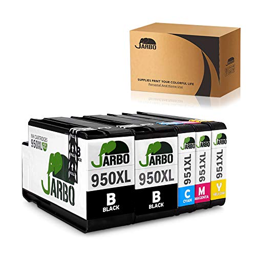 JARBO 1Set+1Black Compatible Ink Cartridges Replacement for 950 951 High Yield - Latest Update - Used with Officejet PRO 8600 8610 8620 8630 8100 8640 8660 8615 8625 251dw 271dw 276dw Printer