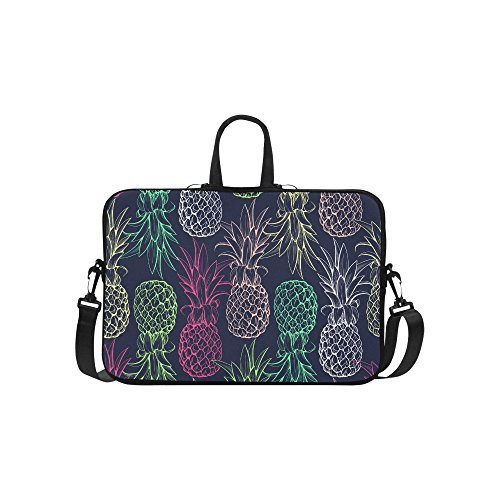 InterestPrint Classic Personalized Fruit Pineapple Seamless Pattern Colorful 15.4