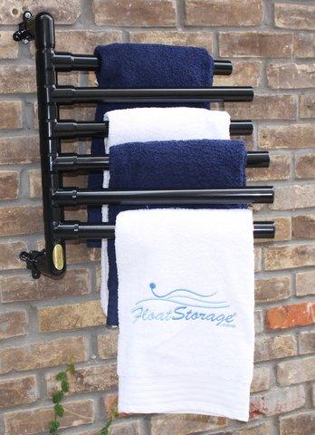 floatstorage FSTOW6B Original Hanging 6 Towel Rack, Black
