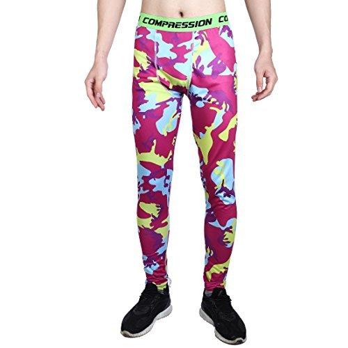 2cdb0628dc0df eDealMax Hommes Sports Athlétisme Entraînement, Fibre de Polyester,  collants couche Compression Pantalon Course