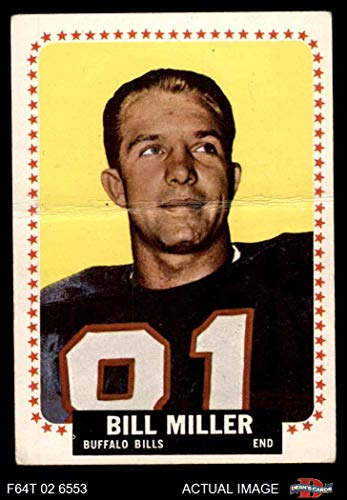 1964 Topps # 32 Bill Miller Buffalo Bills (Football Card) Dean's Cards 1.5 - FAIR Bills