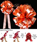 BROWN ORANGE WEDDING 8'' PULL PEW BOWS BRIDAL DECORATION