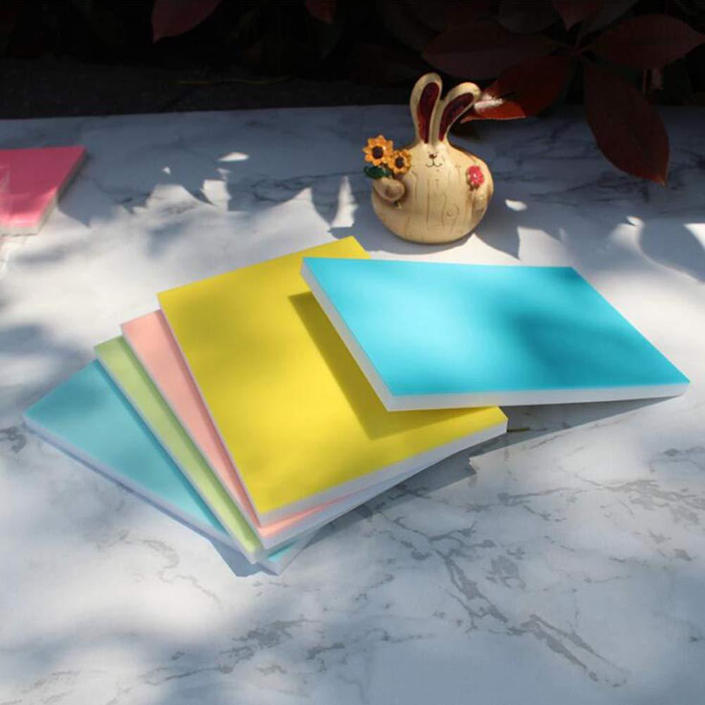 Toyvian Stempel schnitzen bl/öcke Doppelschicht Stempel Block f/ür Scrapbooking postkarten einladungskarten DIY Projekt zuf/ällige Farbe