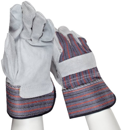 Gray Leather Palm Glove (West Chester 558/XL Cowhide Leather Glove, XL, Gray  (Pack of 12 Pairs))
