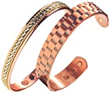Product review for Earth Therapy - Power Couple Men and Women's Copper Magnetic Bracelets - Recovery and Injury relief now in Duo Gift Pack- Earth Therapy Jewelry