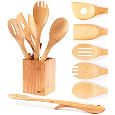 Neet Organic Wooden Bamboo Cooking & Serving Utensils