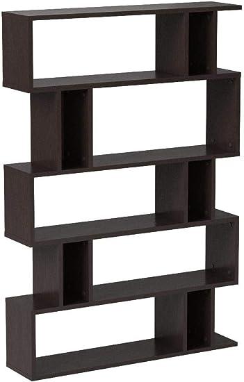 Amazon Com Baxton Studio Goodwin 5 Level Modern Bookshelf Dark
